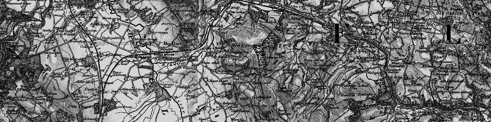Old map of Aifft in 1896