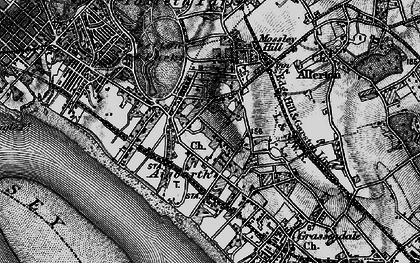 Old map of Aigburth in 1896