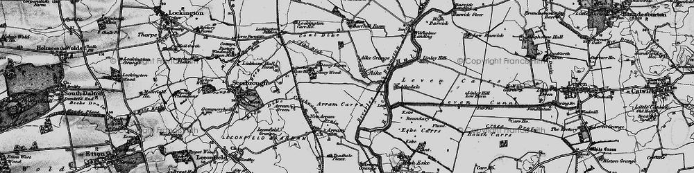 Old map of Aike Grange Stud in 1898