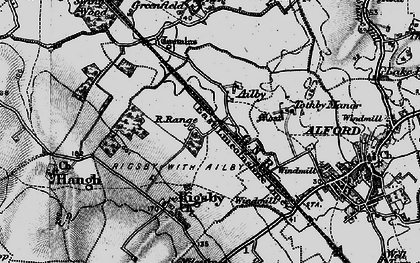 Old map of Ailby in 1899