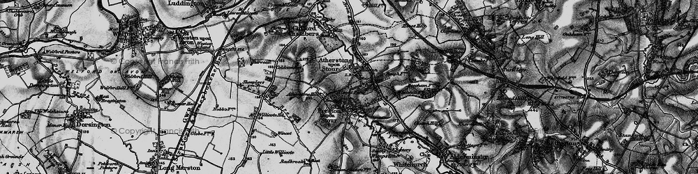 Old map of Ailstone in 1898