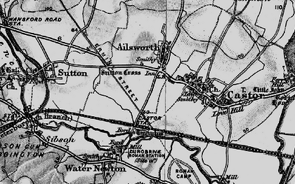 Old map of Ailsworth in 1898