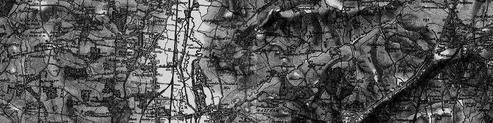 Old map of Aimes Green in 1896