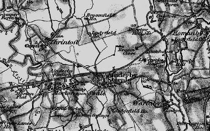 Old map of Ainderby Steeple in 1898