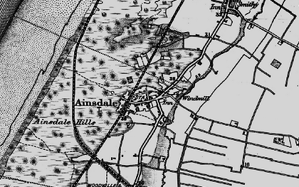 Old map of Ainsdale in 1896