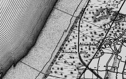Old map of Ainsdale Sands in 1896