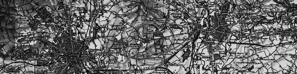 Old map of Ainsworth in 1896