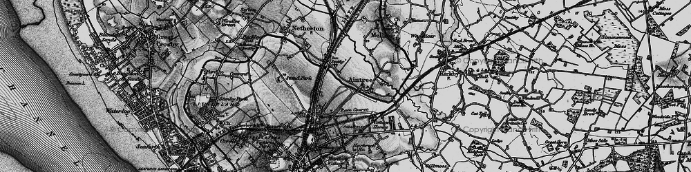 Old map of Aintree in 1896