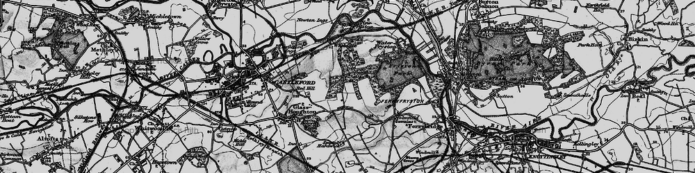 Old map of Airedale in 1896