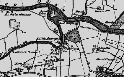 Old map of Airmyn in 1895