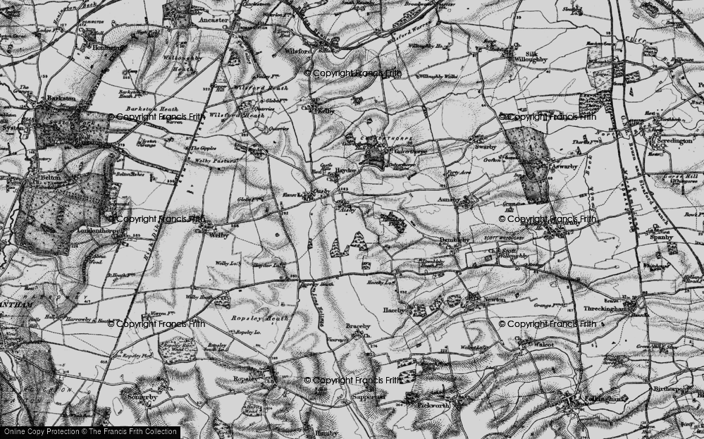 Old Map of Aisby, 1895 in 1895
