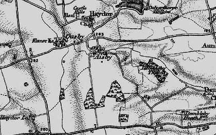 Old map of Aisby in 1895
