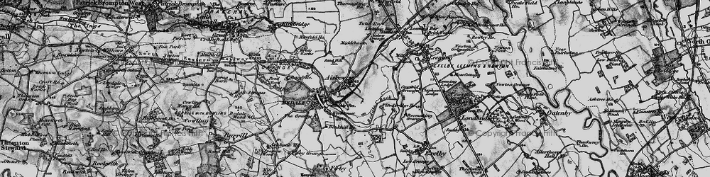 Old map of Aiskew Grange in 1897