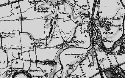 Old map of Aislaby Grange in 1898