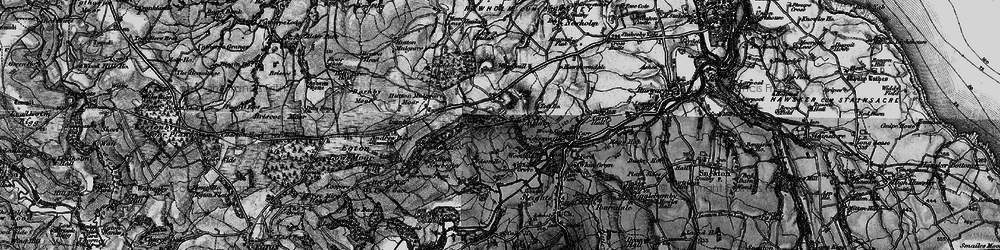 Old map of Aislaby Moor in 1898