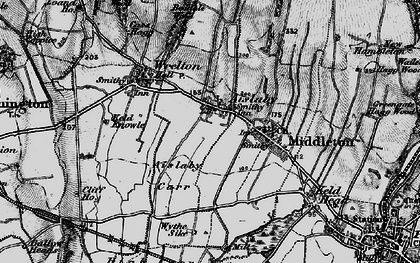 Old map of Aislaby in 1898