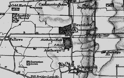Old map of Aisthorpe in 1899