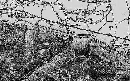 Old map of Akeld Hill in 1897