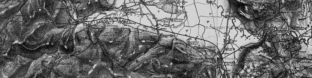 Old map of Tom Tallon's Crag in 1897