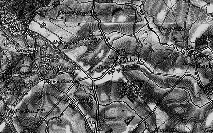 Old map of Akeley in 1896