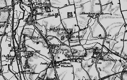 Old map of Akenham Hall in 1896