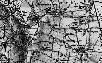 Old map of Albany in 1898