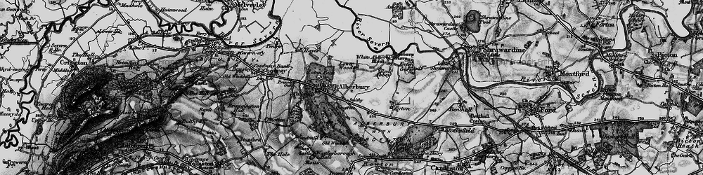 Old map of White Abbey in 1899