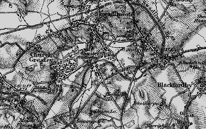 Old map of Albert Village in 1895