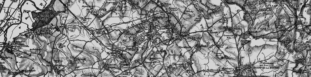Old map of Albert Village in 1895