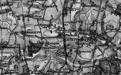 Old map of Albourne in 1895