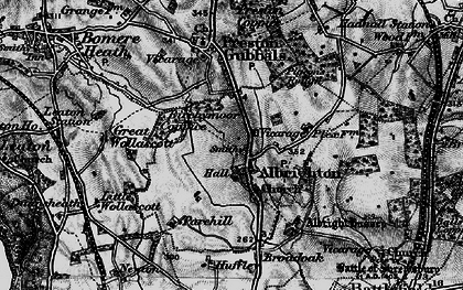 Old map of Albrighton in 1899