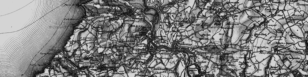Old map of Albro Castle in 1898