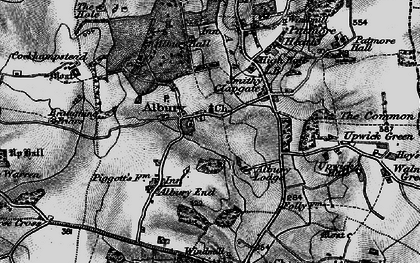 Old map of Albury Lodge in 1896
