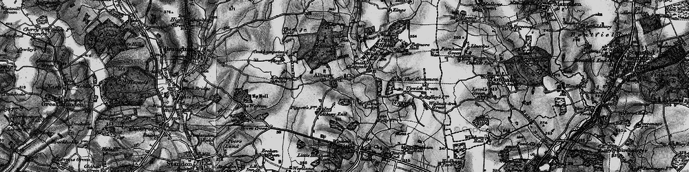 Old map of Albury in 1896