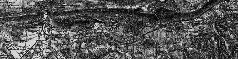 Old map of Tilling Bourne in 1896
