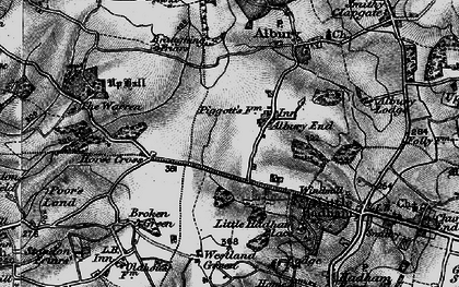 Old map of Albury End in 1896