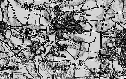 Old map of Alby Hill in 1899