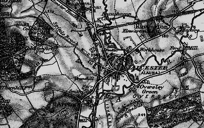 Old map of Alcester in 1898