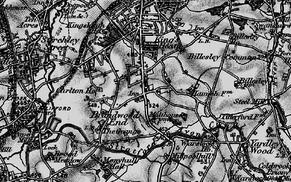 Old map of Alcester Lane's End in 1899