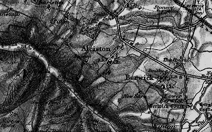 Old map of Alciston in 1895