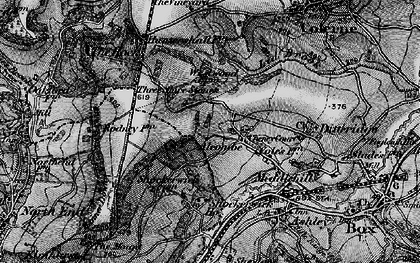 Old map of Alcombe in 1898