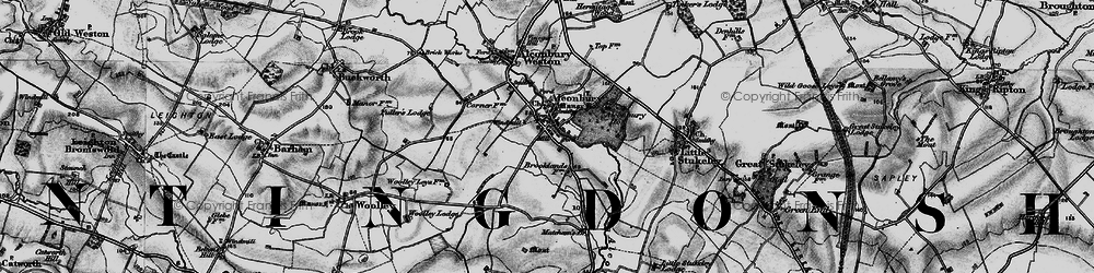 Old map of Alconbury in 1898