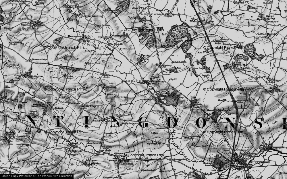 Old Map of Alconbury Weston, 1898 in 1898