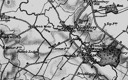 Old map of Alconbury Weston in 1898