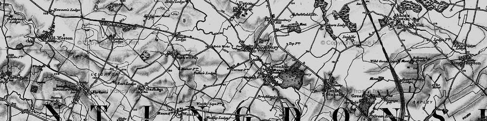 Old map of Alconbury Hill in 1898