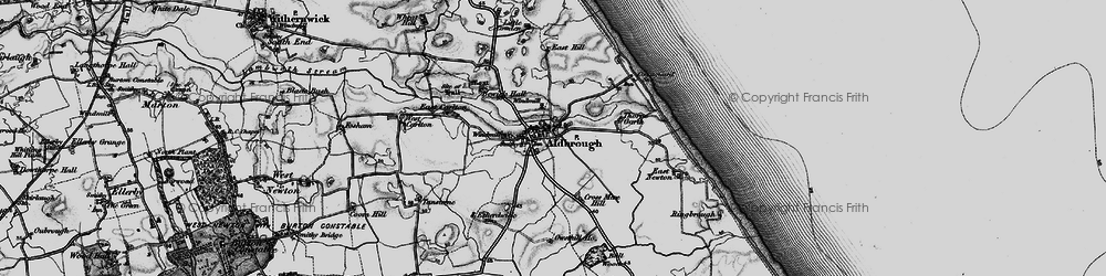Old map of Aldbrough in 1897