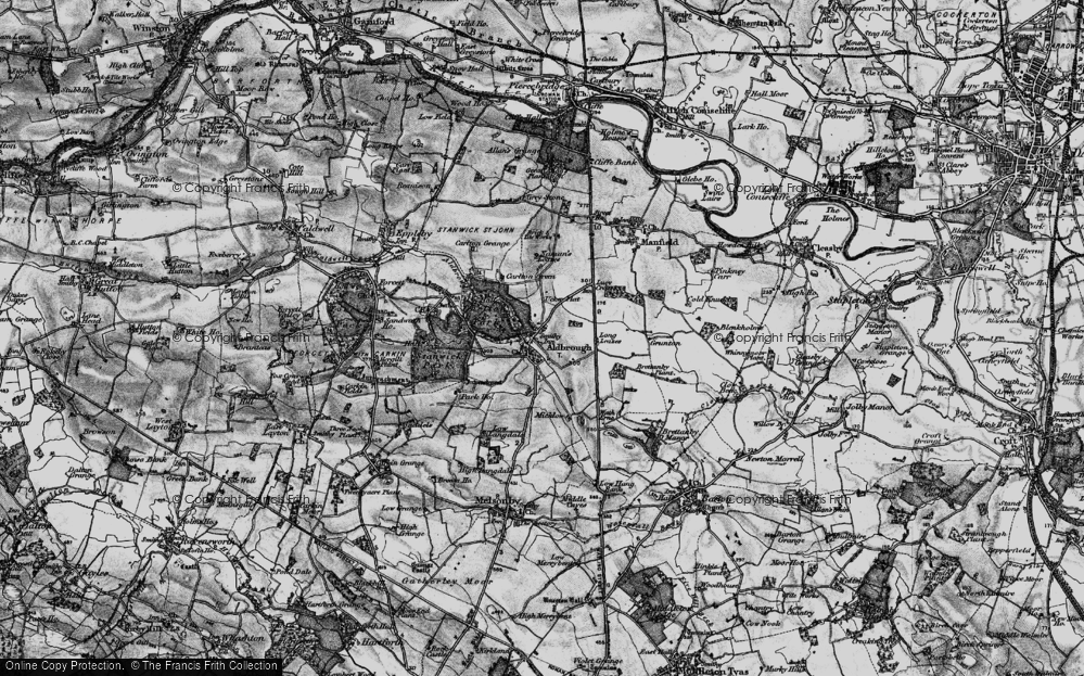 Old Map of Historic Map covering Aldbrough Beck in 1897