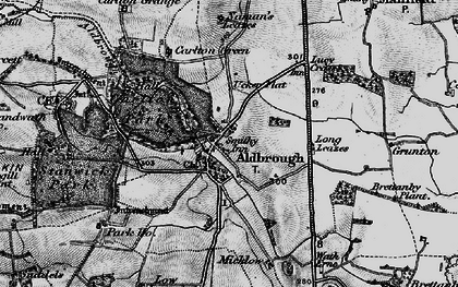 Old map of Aldbrough St John in 1897