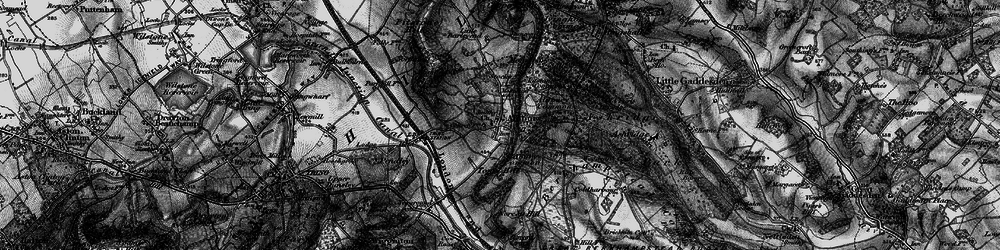 Old map of Aldbury Common in 1896