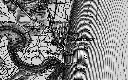 Old map of Aldeburgh Bay in 1898